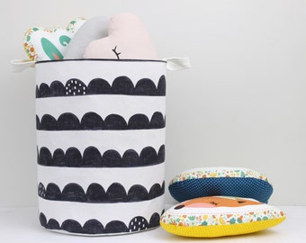 Large Laundry Hamper, Laundry Basket, Toy Storage, Nursery Fabric Basket, Storage Bin, Toy Basket, Nursery Storage