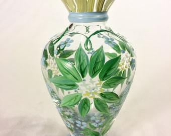 Tracy Porter Handpainted Glass Bud Vase