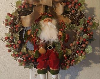 OAK Santa wreath