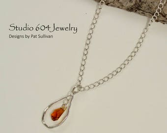 Sterling Silver Chain with Topaz - N783