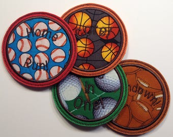 Sports Embroidered Drink Coasters