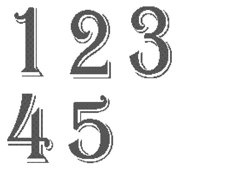 Wedding Table Numbers Cross Stitch Pattern Cross Stitch Table