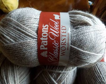 New PATONS CLASSIC Wool Yarn 1 skein 100g Natural Mix 100% Wool
