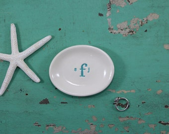 Custom Ring Dish with Monogram, Monogramed Ring Dish, Monogramed Trinket Dish, Trinket Dish with Monogram, Ring Dish With Monogram,