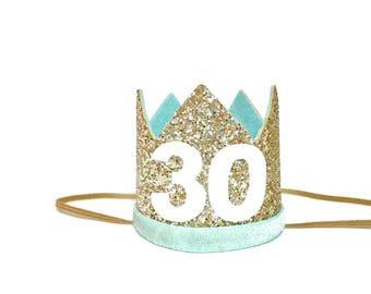 Flirty 30 Birthday   Adult Birthday Crown   21st Birthday   30th Birthday Crown   Thirtieth Adult Party Hat   Dirty 30  