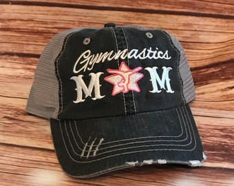 Gymnastics mom hat*Gymnastics*Mom*Embroidery*Personalized*Monogram*Personalized Gifts* Gifts for her*Mama Bear*Gymnastic mom*Momlife*girlfri