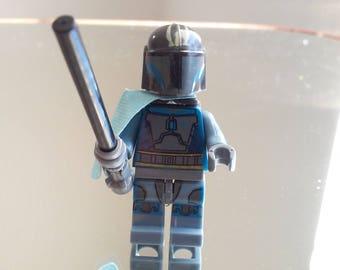 Star Wars Pre Vizsla Custom Mandalorian Minifigure Size and Compatible New