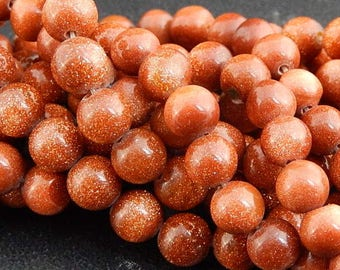 Gold Sand 6mm 20 beads