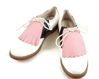 Kilties for Womens Golf Shoes, Pink Kiltie, Swing Dance Shoes Kilties, Leather Fringe, Best Golf Gifts, Cheer Shoes Kiltie, Golf Accessories