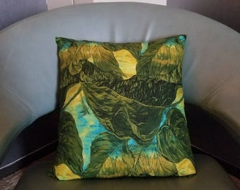 Floral Throw Pillow Palm Leaves