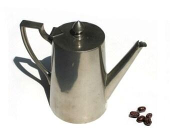 Vintage Coffee Pot - ART DECO Coffee Pot - Silver Plate - 1930s 30s