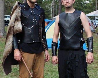 Mens Leather Armor Titan Set - Mens Viking Armor - Barbarian Armor - Highlander Armor - Warrior Armor