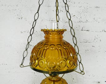 Lighting hanging - glass - VINTAGE