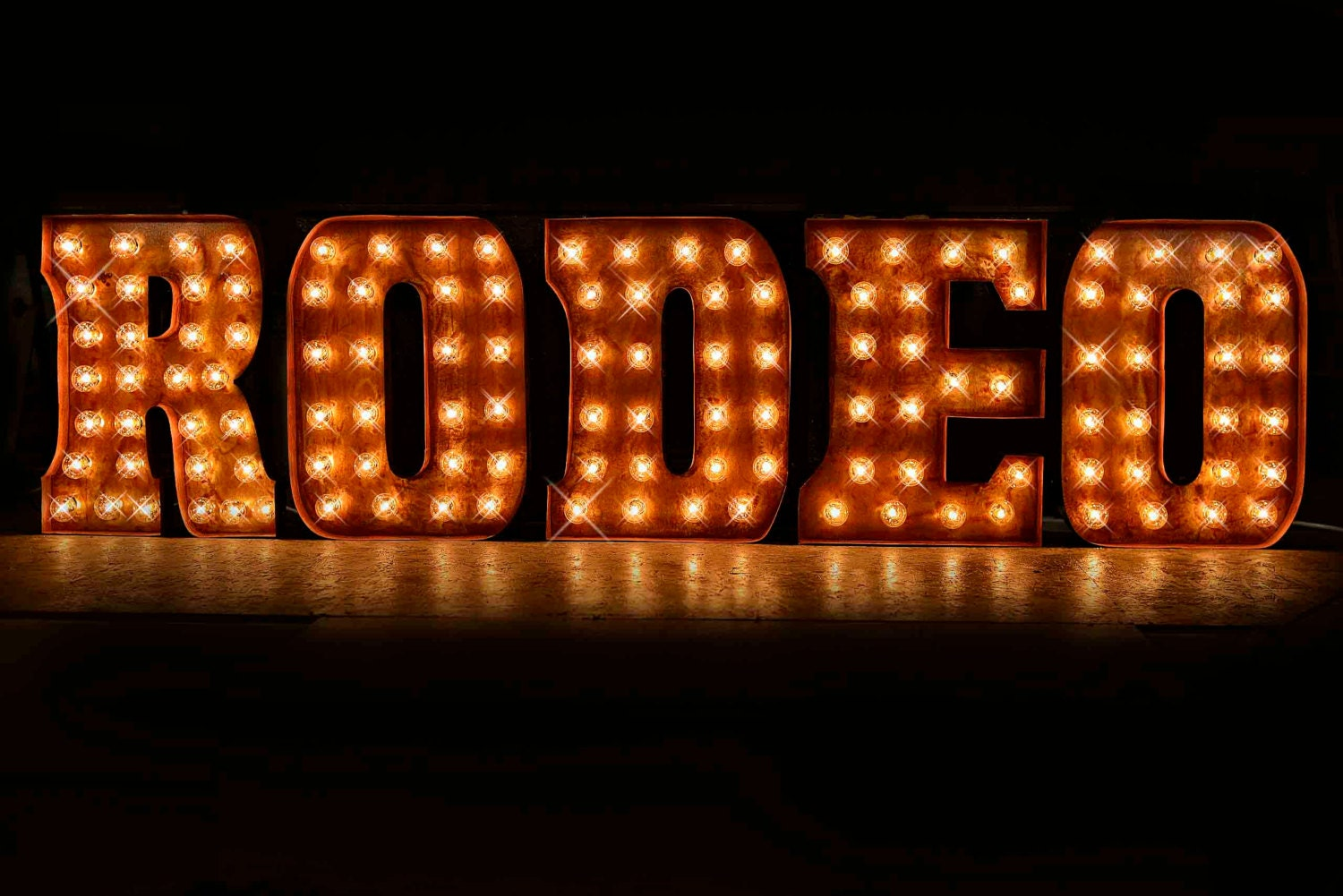 Metal Letter Signs With Lights 5 Letter Package In Double Trouble Font Custom Sign Marquee
