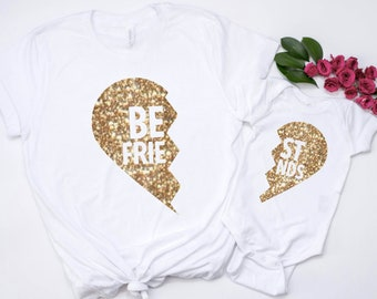 mother daughter, mommy and me, gift for her, mother daughter shirts, mothers day gift, mom and baby outfits, mother daughter outfit