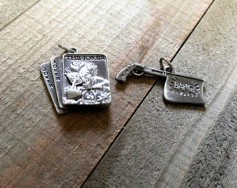 Joker Charms Batman Charms Set of 2 Officially Licensed DC Comics Gun Charm Quote Charms PREORDER