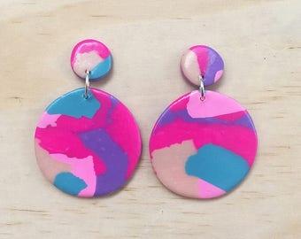"Handmade statement dangle earrings // gifts for her // ""Dream chaser"""