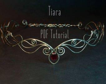 Tiara tutorial, Wire Wrapped Diadem, Tutorial elven circlet