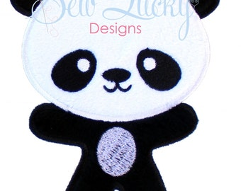Panda Bear Embroidered Patch, Sew or Iron on
