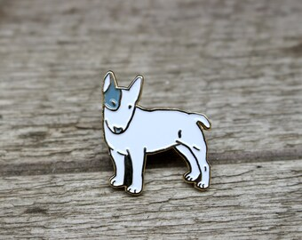 Bull Terrier Dog Enamel Lapel Pin