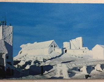 Vintage N H Postcard Top of Mt Washington White Mountains Observatory New England's highest Peak