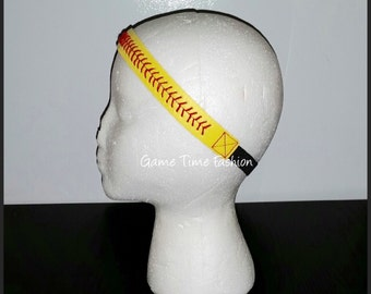 Softball Seamed Leather Headband