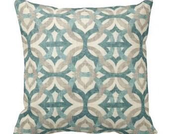 12x24 pillow, teal pillows, trellis pillows, waverly pillows, couch pillows, decorative pillows, linen pillow, throw pillow, pillow cover