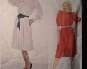 Vintage Vogue Paris Original Yves Saint Laurent 2989 1970s 70s Misses Top and Skirt Pattern