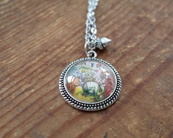 Winnie the Pooh bear Eeyore Christopher Robin pendant necklace