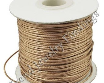 WC03 10 Yards Lavender Waxed Cord 1mm High Quality