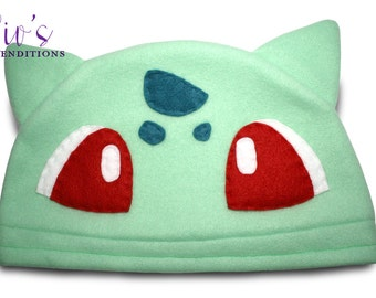 Fleece Pokemon Hat - Bulbasaur - Fleece Hat - Super Cozy Beanie