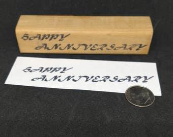 Happy Anniversary rubber stamp