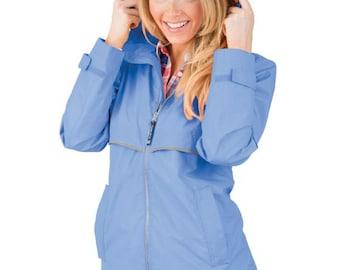 "Women's Charles River ""Perry Winkle"" Raincoat w/ Monogram"