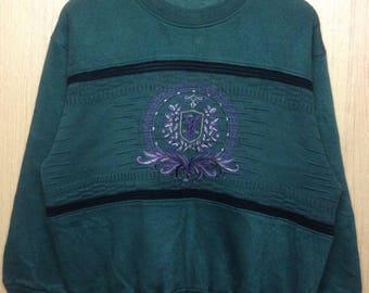 Rare !!! Vintage Bill Bravo Sweatshirt Large Size Hip Hop Swag
