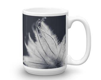 Ethereal Mug, Blue and White Coffee Mug, Unique Coffee Cup, Floral Coffee Cup, Ceramic mug, Mug made in the USA, Microwave Safe Mug