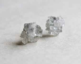 Gemstone stud earrings - Winter Celestite post stud earring