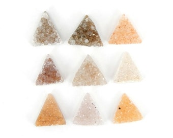 Tiny Triangle Druzy Cabochon - Perfect for Jewelry Making (RK35B3-08)