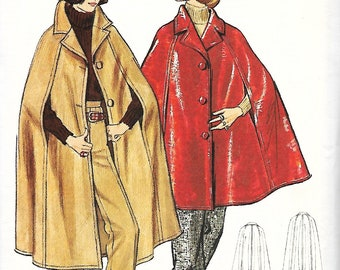 Butterick 5929 Cape In Two Lengths And Pants Sewing pattern, Size 10, UNCUT
