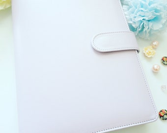 Macaron Binder Planner with Inserts, A5 Journal - ring binder - pastel - blue - pink - lilac