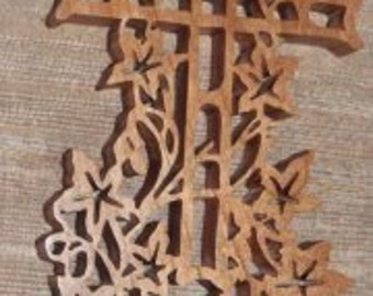 dove fretwork cross