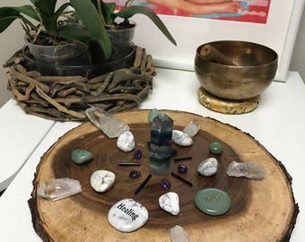 Distance Healing - Crystal Grid and Card Reading