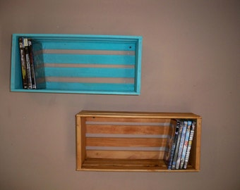 Crate Shelving,Wood Crate Shelving, Wood Crate Storage,Wall Shelf ,DVD Storage Crate, Stackable storage crates
