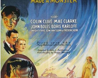Classic Universal Pictures' Frankenstein Poster Boris Karloff 24x36