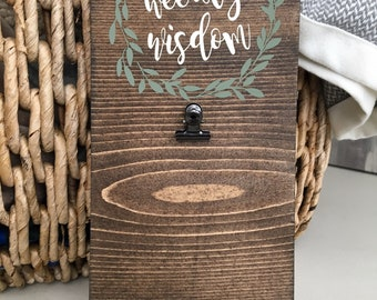 Weekly Wisdom Clipboard | Prayer Clip Board | Bible Scripture Verse Holder