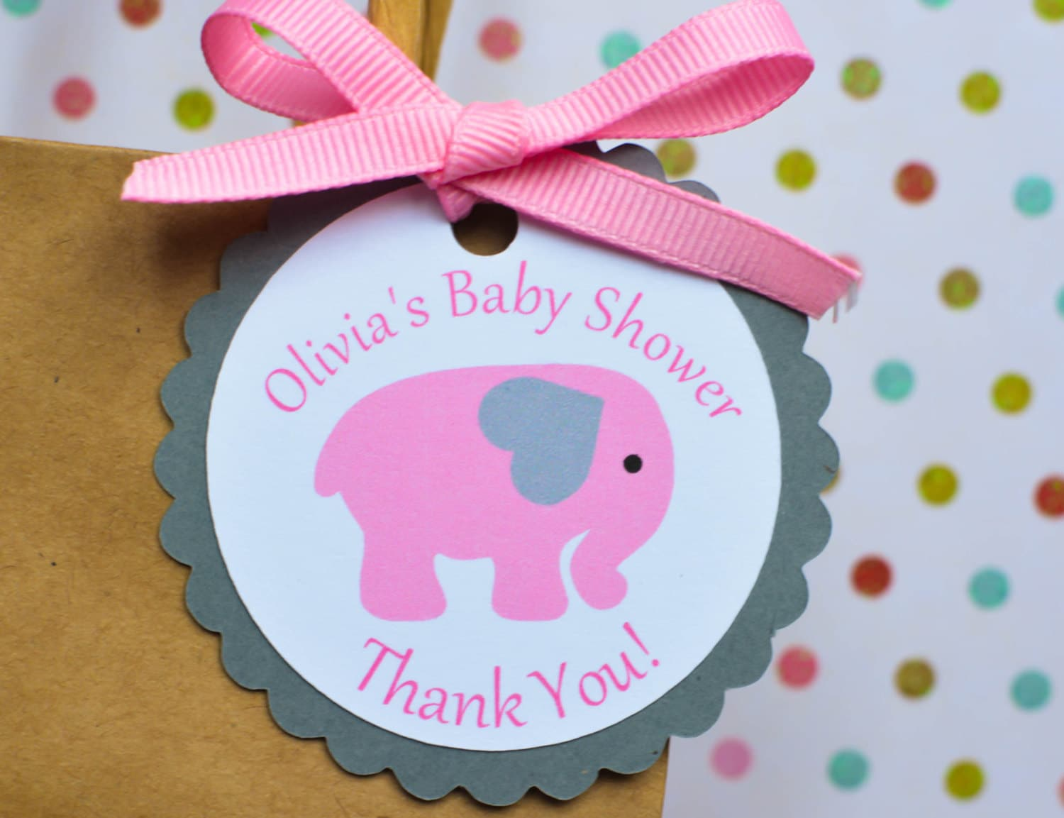 Elephant Baby Shower Favor Tags Elephant Baby Favor Tags
