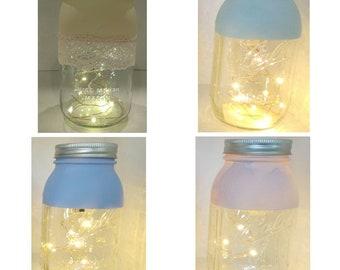 Mason jar nightlight Quart size.