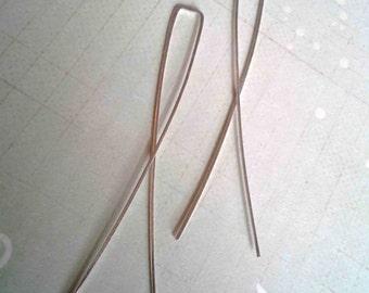 Crisscross Threader Earrings, Open Hoop Earrings, Sterling Silver Wire Hoops, Delicate U Pin Hoops, Minimalist Jewelry, Minimalist Earrings