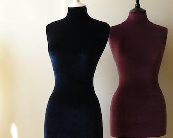 Slip On Mannequin Dressform COVER ONLY Luxury Velvet - Navy