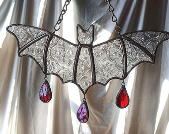 Tapestry Bat - Stained Glass - Handmade
