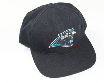 90s Sports Specialties Carolina Panthers Fitted 7 1/8 NFL Football Hat Black, Vintage Carolina Panthers Hat, 90s Fitted Hat, Vintage Hat
